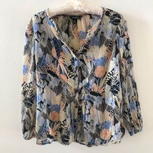 Lucky Brand Long Sleeved Floral Blouse